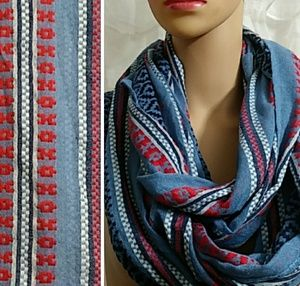 Patterned Infinity Scarf